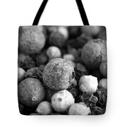 Rainbow Peppercorn Macro Black And White Tote Bag