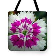 Rainbow Pink Flower Tote Bag