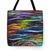 Rainbow Ripple Tote Bag