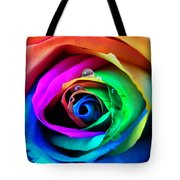 Rainbow Rose Tote Bag by Juergen Weiss