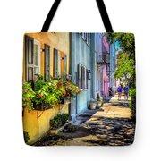 Rainbow Row Tote Bag