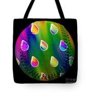 Rainbow Showers Baseball Square Tote Bag