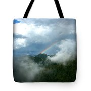 Rainbow Shrouded In Mist Tote Bag