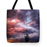 Rainbow Skies At Sunset  Tote Bag