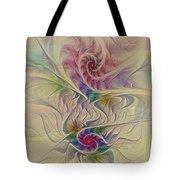 Rainbow Spirals Tote Bag