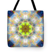 Rainbow Starburst Mandala Tote Bag