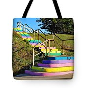 Rainbow Steps Tote Bag
