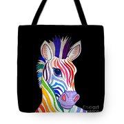 Rainbow Striped Zebra 2 Tote Bag