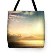 Rainbow Sunburst Tote Bag