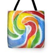 Rainbow Swirl Tote Bag by Luke Moore