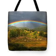 Rainbow Through The Forest Tote Bag