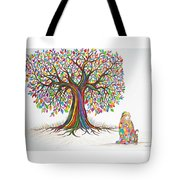 Rainbow Tree Dreams Tote Bag