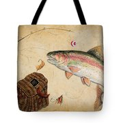 Rainbow Trout Tote Bag by Jean Plout