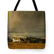 Rainbow Over The Tower Tote Bag