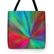 Rainbow Wheel Tote Bag by ME Kozdron