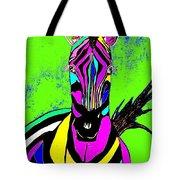 Rainbow Zebra 2 Abstract Tote Bag