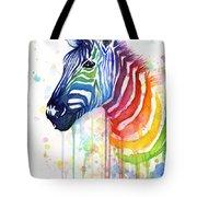 Rainbow Zebra - Ode To Fruit Stripes Tote Bag