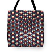 Rainbowaves Pattern Dark Tote Bag by Freshinkstain