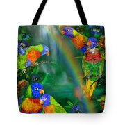 Rainbows In Paradise Tote Bag