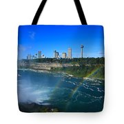Rainbows Over Niagara Tote Bag