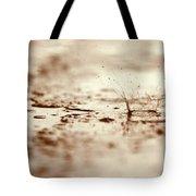 Raindrop Falling On The Street Tote Bag
