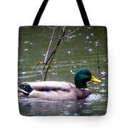 Raindrops Falling On Duck Head Tote Bag