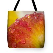 Raindrops On An Apple Tote Bag
