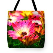 Raindrops On Flower Tote Bag