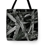Raindrops On Grass Tote Bag