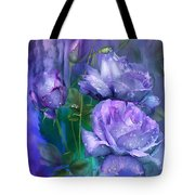 Raindrops On Lavender Roses Tote Bag