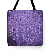Raindrops On Window II Tote Bag