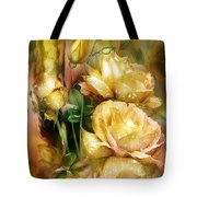 Raindrops On Yellow Roses Tote Bag