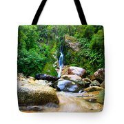 Rainforest Stream New Zealand Tote Bag