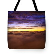 Rainier Above The Clouds Tote Bag