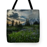 Rainier Abundance Of Flowers Tote Bag