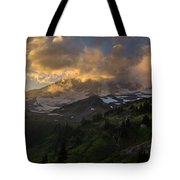 Rainier Evening Skies Drama Tote Bag