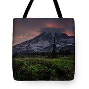 Rainier Fire Mountain Tote Bag