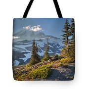 Rainier From Paradise Glacier Tote Bag