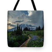 Rainier Meadows Thunder Skies Tote Bag