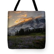 Rainier Purple Lupine Carpet Tote Bag