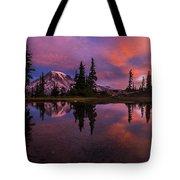 Rainier Soaring Sunrise Reflection Tote Bag