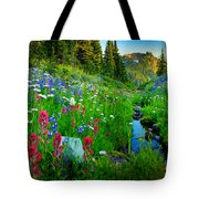 Rainier Wildflower Creek Tote Bag