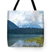 Raining On Emerald Lake In Yoho National Park-british Columbia-canada Tote Bag