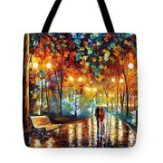 Rain's Rustle 2 - Palette Knife Oil Painting On Canvas By Leonid Afremov Tote Bag