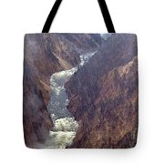 Rainstorm Over Grand Canyon Of The Yellowstone Tote Bag
