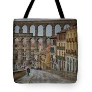 Rainy Afternoon In Segovia Tote Bag