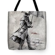 Rainy Day #07 Drawing Tote Bag by Emerico Imre Toth