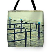Rainy Day At The Sea Front Tote Bag