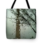 Rainy Day At The Washington Monument Tote Bag