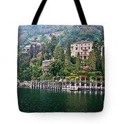 Rainy Day In Como Tote Bag